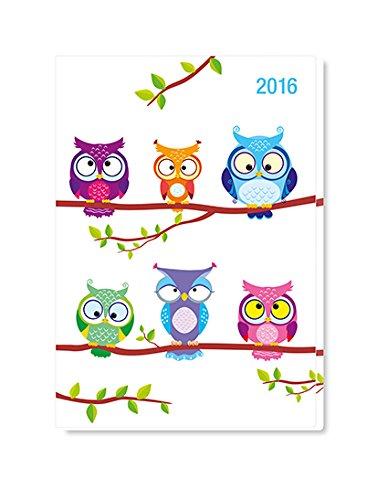 9783840760716: Minitimer Eule 2016 - Taschenkalender A6 / Taschenplaner A6 - Weekly - 144 Seiten - 1 Woche / 2 Seiten