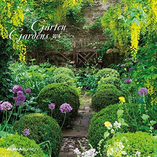 9783840761027: Gärten 2016 - Gardens - Broschürenkalender (30 x 60 geöffnet) - Wandplaner