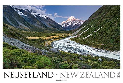 9783840764295: Neuseeland 2016 - New Zealand - Bildkalender XXL (68 x 46) - Landschaftskalender - Naturkalender