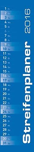 9783840765261: Streifenplaner blau 2016 - Streifenkalender (11 x 50)
