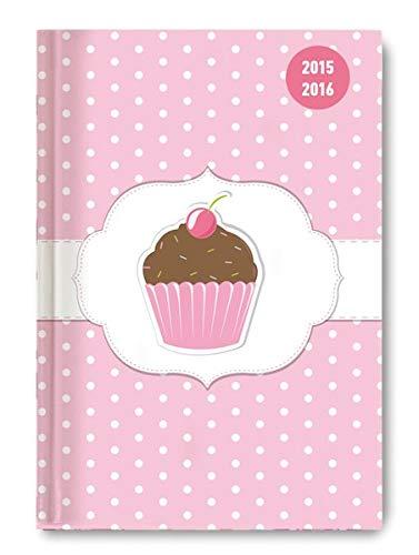 9783840766510: Collegetimer A5 Cupcake 2015/2016