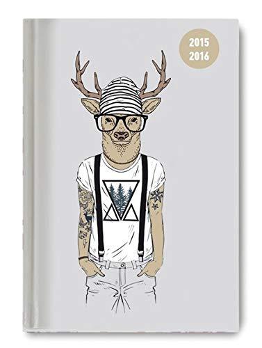 9783840766657: Collegetimer A6 Deer 2015/2016