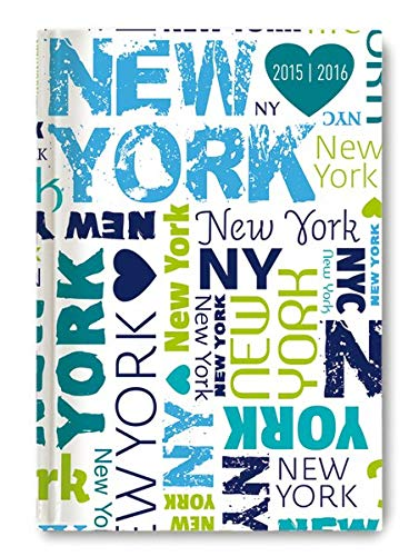 9783840766671: Collegetimer A6 New York 2015/2016