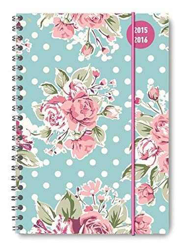 9783840766954: Collegetimer A5 Roses 2015/2016 - Ringbuch