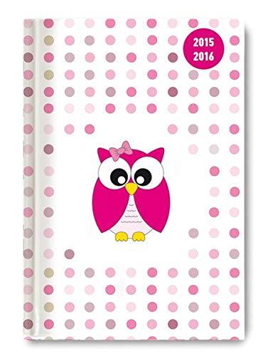 9783840767036: Collegetimer Pink Owl 2015/2016 - Schülerkalender A5 - Day By Day - 352 Seiten