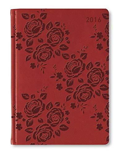 9783840768453: Ladytimer Deluxe Red 2016 - Taschenplaner / Taschenkalender A6 - Tucson Einband - Motivpr�gung Rosen - Weekly - 192 Seiten