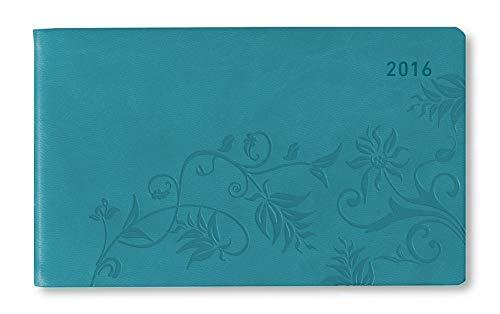 9783840768569: Ladytimer TO GO Deluxe Aqua 2016 - Taschenplaner / Taschenkalender quer (15,3 x 8,7) - Tucson Einband - Motivprägung Floral - Weekly - 128 Seiten