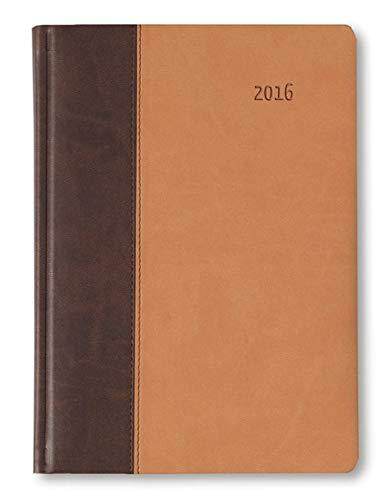 9783840769221: Buchkalender Premium Earth braun/sand 2016 - Bürokalender A5 / Cheftimer A5 - 1 Tag 1 Seite - 416 Seiten