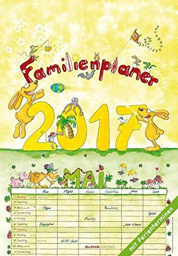 9783840772078: Familienplaner 2017 - Bildkalender - (24 x 34)