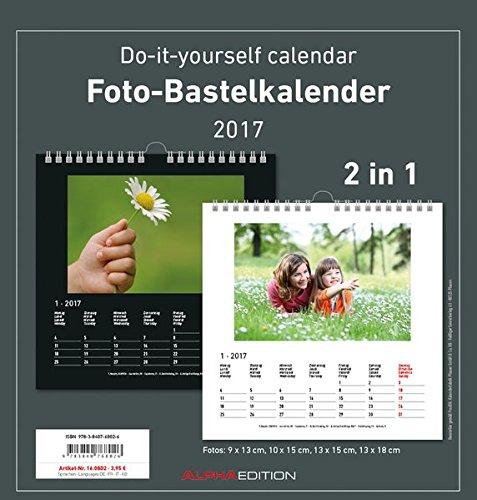 9783840778025: Foto-Bastelkalender 2017 - schwarz/weiß - datiert - (21 x 22)