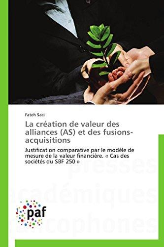 La création de valeur des alliances (AS): Fateh Saci