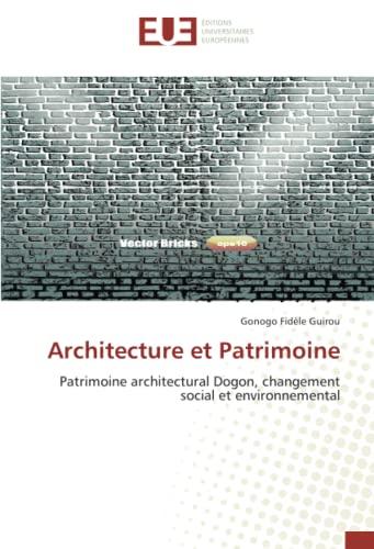 9783841661524: Architecture Et Patrimoine