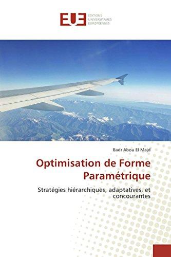 9783841667540: Optimisation de Forme Parametrique