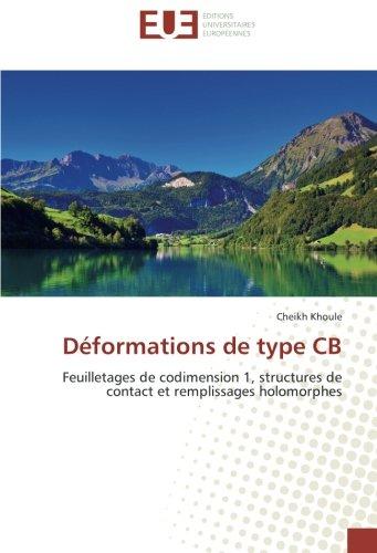 Déformations de type CB: Feuilletages de codimension: Cheikh Khoule