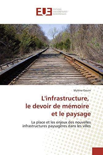 9783841673923: L'infrastructure, le devoir de mémoire et le paysage: La place et les enjeux des nouvelles infrastructures paysagères dans les villes (Omn.Univ.Europ.) (French Edition)