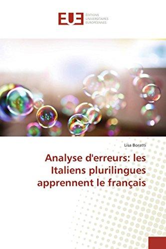 9783841675286: Analyse d'erreurs: les Italiens plurilingues apprennent le français (Omn.Univ.Europ.) (French Edition)