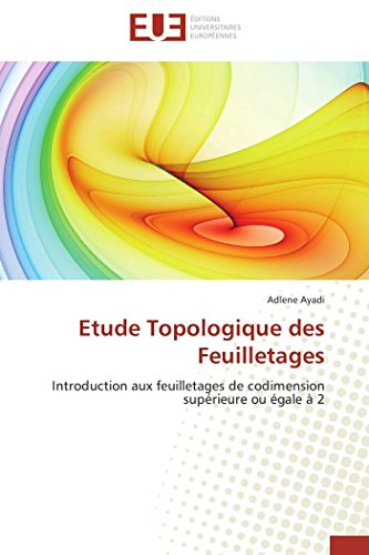 Etude Topologique Des Feuilletages: Ayadi-A (author)