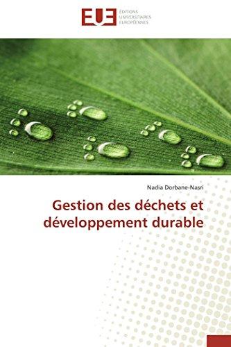 9783841732026: Gestion des déchets et développement durable