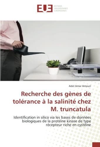 Recherche Des Genes de Tolerance a la: Amouri Adel Amar