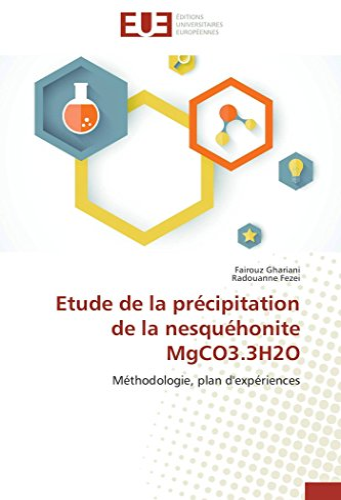 9783841746016: Etude de la précipitation de la nesquéhonite MgCO3.3H2O (Omn.Univ.Europ.) (French Edition)