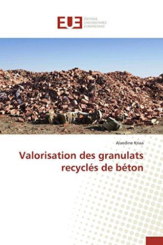 Valorisation des granulats recyclés de béton: Kriaa, Alaedine