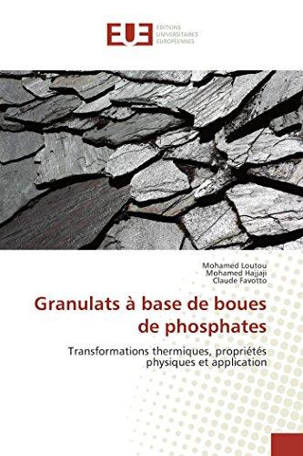 Granulats à base de boues de phosphates: Loutou, Mohamed /