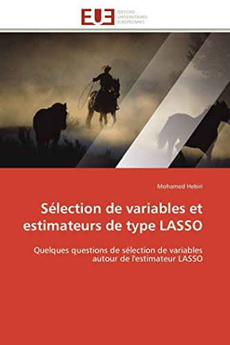 9783841784414: Sélection de variables et estimateurs de type LASSO: Quelques questions de sélection de variables autour de l'estimateur LASSO (Omn.Univ.Europ.) (French Edition)