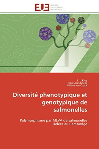 9783841785053: Diversit� phenotypique et genotypique de salmonelles: Polymorphisme par MLVA de salmonelles isol�es au Cambodge