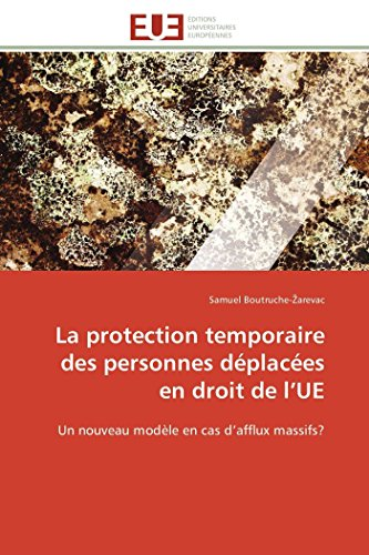 La Protection Temporaire Des Personnes Deplacees En: Boutruche- Arevac-S
