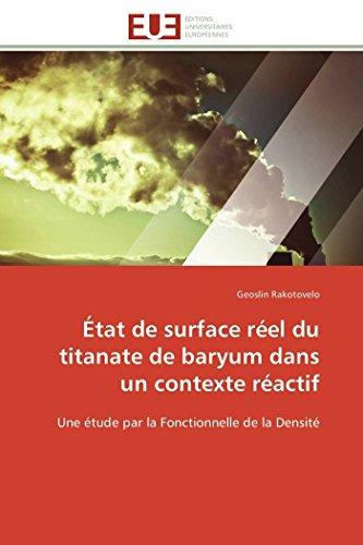 État de surface réel du titanate de baryum dans un contexte réactif: Geoslin Rakotovelo
