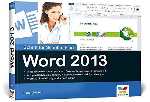 Word 2013: Schritt für Schritt erklärt: Kla�en, Robert