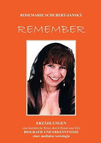 REMEMBER (German Edition): Rosemarie Schubert, Ros