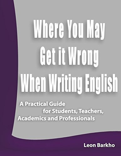9783842384736: Where You May Get it Wrong When Writing English