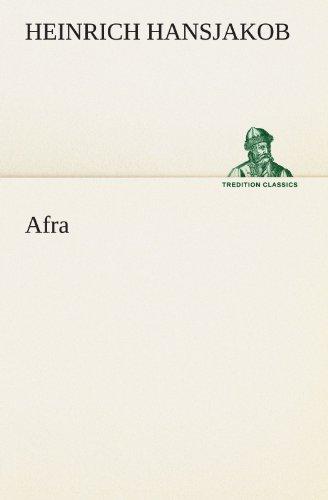 9783842405509: Afra (TREDITION CLASSICS) (German Edition)