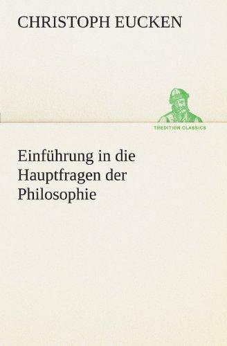 9783842416147: Einführung in die Hauptfragen der Philosophie (TREDITION CLASSICS)