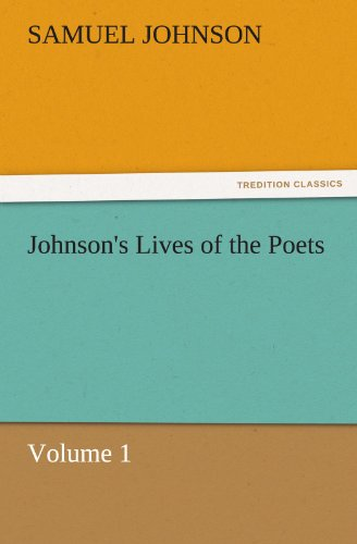 9783842456587: Johnson's Lives of the Poets — Volume 1 (TREDITION CLASSICS)