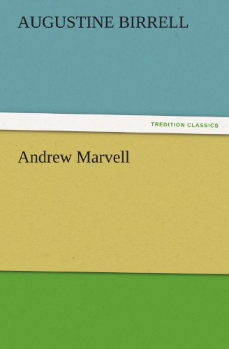 9783842484061: Andrew Marvell (TREDITION CLASSICS)