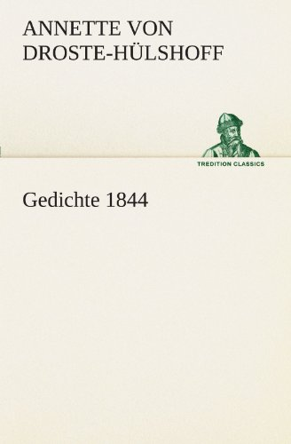 Gedichte 1844 Tredition Classics German Edition By