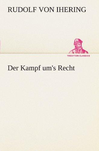 9783842491038: Der Kampf um's Recht (TREDITION CLASSICS)