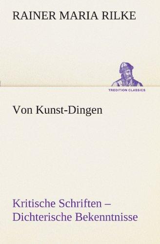 9783842492707: Von Kunst-Dingen (TREDITION CLASSICS)