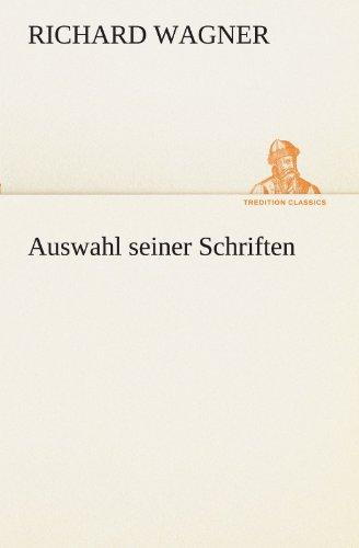 9783842494268: Auswahl seiner Schriften (TREDITION CLASSICS)
