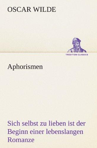 9783842494435: Aphorismen (TREDITION CLASSICS)