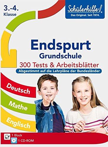 9783842707030: Endspurt Grundschule 3.-4. Klasse: Schülerhilfe Testmappe