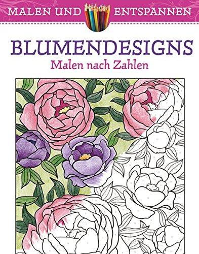 9783842713550: Malen und entspannen: Blumendesigns