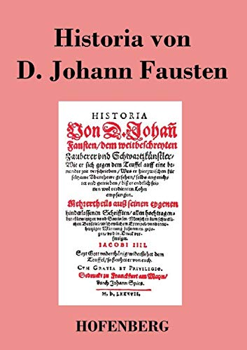 9783843017848: Historia von D. Johann Fausten (German Edition)