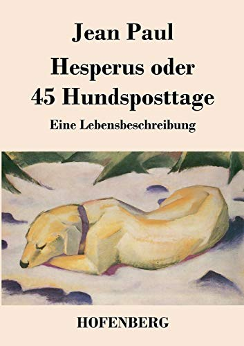 9783843029209: Hesperus oder 45 Hundsposttage (German Edition)