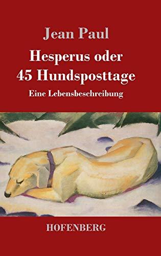 9783843029216: Hesperus oder 45 Hundsposttage (German Edition)