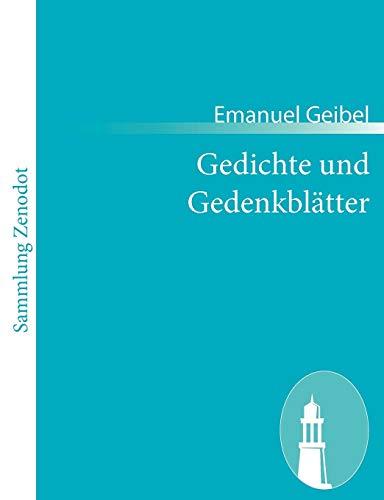 9783843052962: Gedichte und Gedenkblätter