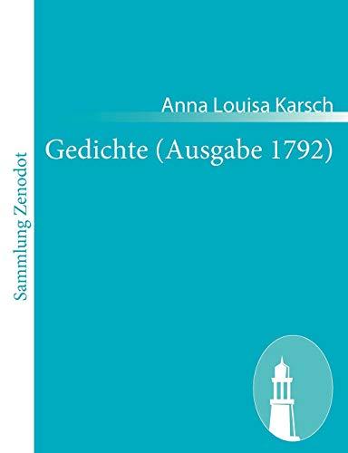 Gedichte (Ausgabe 1792): Anna Louisa Karsch