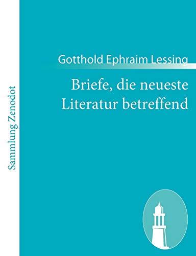 9783843057899: Briefe, die neueste Literatur betreffend